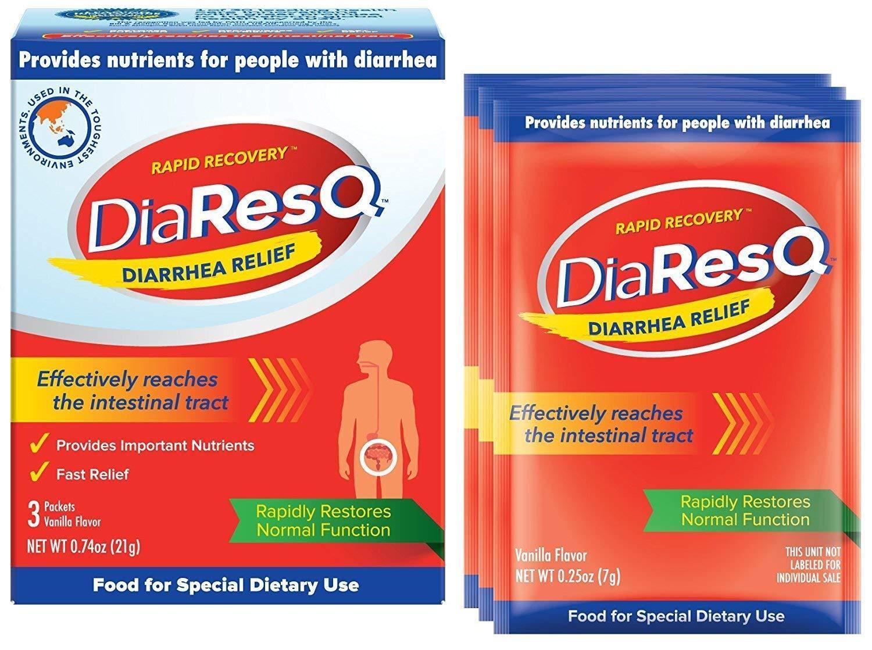 DiaResQ rápido alivio de la diarrea Vanilla Flavor 3ct