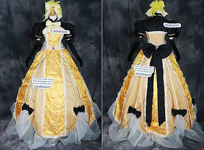 a-217 VOCALOID RIN Cosplay Kostüm Gothic Ball ABEND-KLEID dress costume (Vocaloid Cosplay Kostüme)