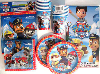 PAW PATROL -Nick Jr. Birthday Party Supply Pack Kit w/ Loot Bags