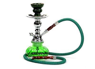 Hookah Smoking Shisha 1 Hose Green Smoke Bowl Glass Water Huka Pipe Tobacco