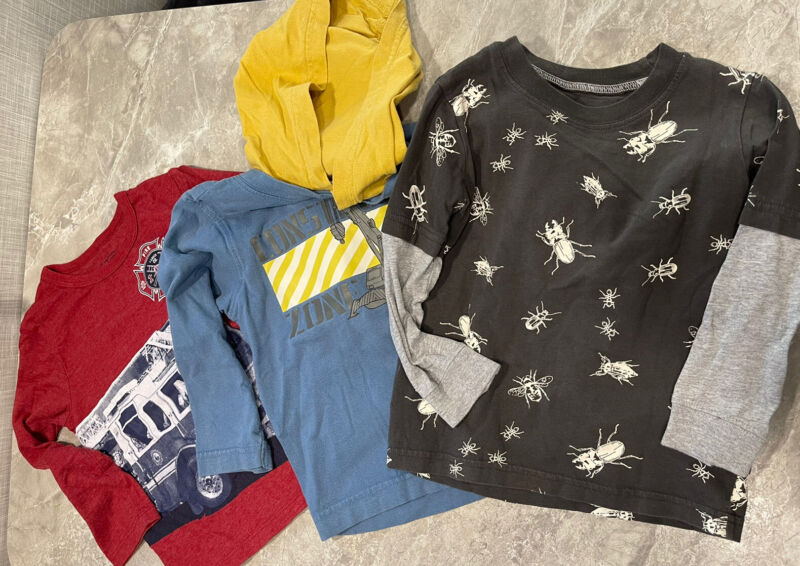 Lot 3 Boys Long Sleeves Shirts Top Size 3t