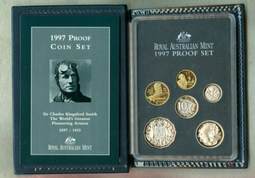 AUSTRALIA ~ 1990 ~ PROOF SET ~ 6 COIN ~  & COA