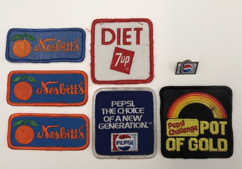 Lot Of Nesbitt's Pepsi And 7up Patches