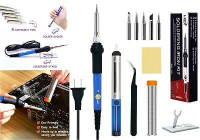Best Electric Soldering Iron Tool Kit Electronic Gun Computer Jewelry Wire,