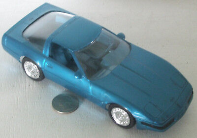 "Plastic Promo Car 1996 Chevrolet Corvette  Blue Metalic 7"""