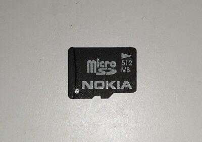 512MB Nokia MicroSD Memory Card.