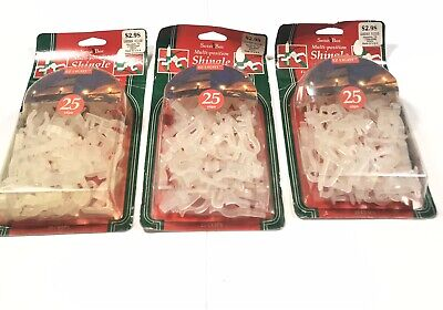 Lot 3 Santas Best Multi - Position Shingle Christmas Light Clips For C7 & C9  ()