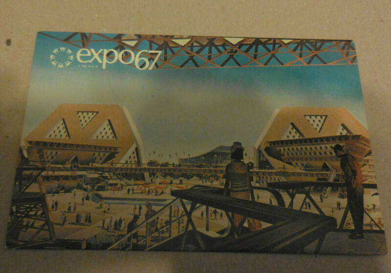 vintage Expo67 Montreal Canada  Pavillons Thematiques postcard world fair
