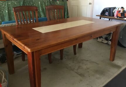 6 Seater Solid Timber Dining Suite