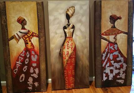 Pictures of three African women