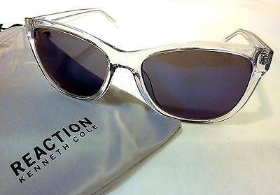Kenneth Cole Reaction KCR1267 Women's Square Sunglasses 26X-57 CLEAR TRANSLUCENT