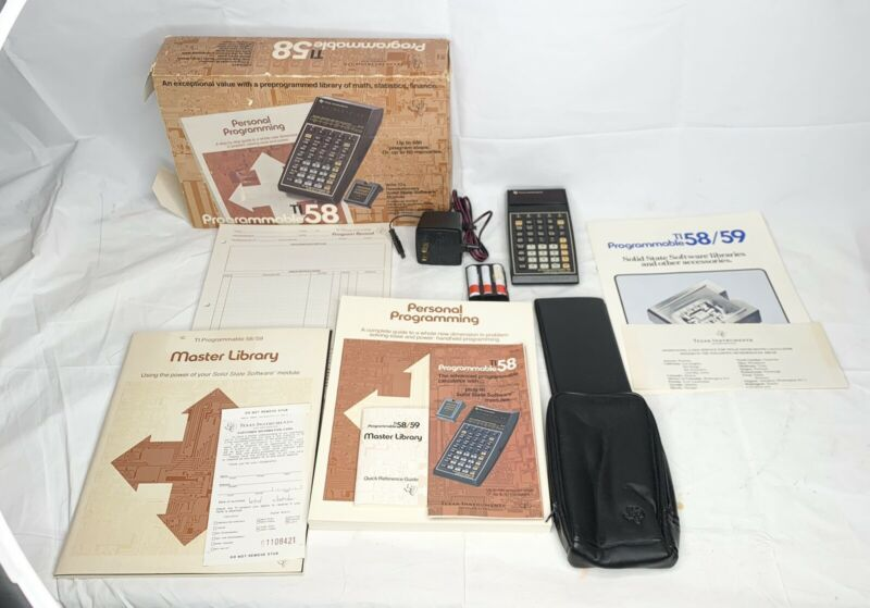 Texas Instruments TI-58 ULTRA RARE calculator - Great Shape in BOX WORKS