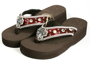 Montana West Rhinestone Bling Flip Flops - Many Styles and Sizes Available