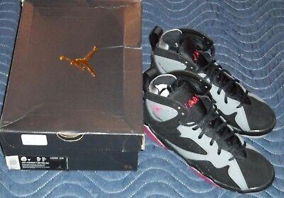 Cheap Kids Jordans (Air Jordan 7 VII Retro GG 'Fuchsia Flash' Black Cool Wolf Grey Sz 6Y)