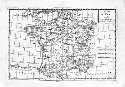 Antique maps, Carte de France dressee par M Bonne