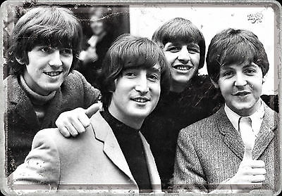 Nostalgic Art Beatles Rock Band UK Blechpostkarte 14 x 10 cm