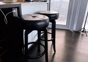 Premium leather bar stool set half price sale, delivery included