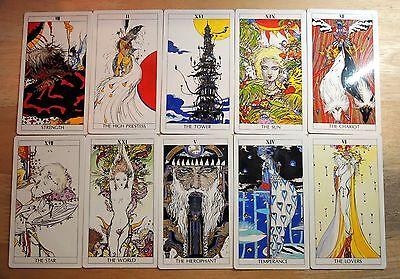 Tarot Cards Decks Yoshitaka Amano FINAL FANTASY FF Book F/S From Japan Used