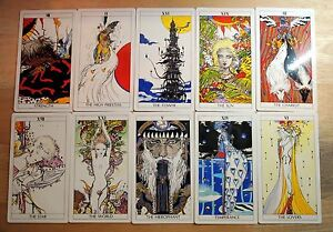 Tarot Cards Decks Yoshitaka Amano FINAL FANTASY FF Book Japan Used w/Tracking