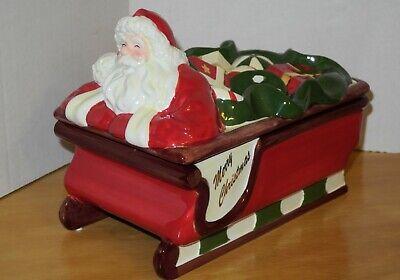 Santa Claus Christmas Sleigh Holders Tea Lights Yankee Candlestick Tree Votive
