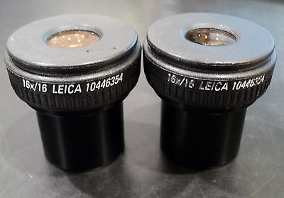 Leica 16x16 Stereozoom Eyepieces 10446354 - Pair Ref. 39472