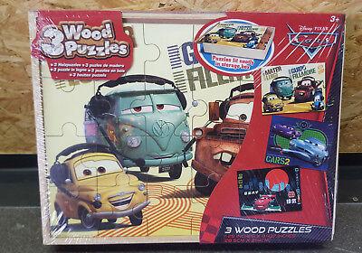Disney`s Cars 2 Puzzle 3 x 24-tlg. 28,5cm x 21,4cm ab 3+