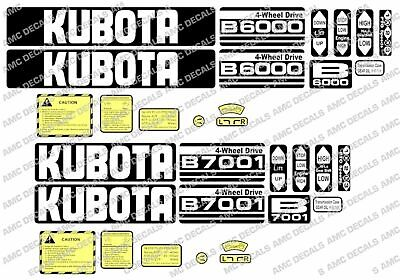 Kubota B6100 B6000 B6001 B7000 B7100 B5000 Compact Tractor Decals Sticker Set