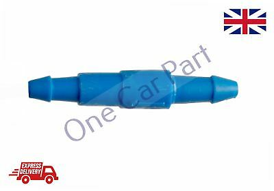 New UNIVERSAL One way WINDSCREEN SCREENWASH IN LINE PIPE JOINER CONNECTOR 4MM
