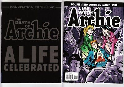 The Death of Archie SDCC Variant + Life With Archie 36 37 Magazine & others lot