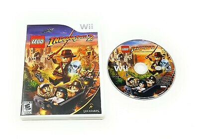LEGO Indiana Jones 2  Adventure Continues (Nintendo Wii, 2009) w/ Case FREE SHIP