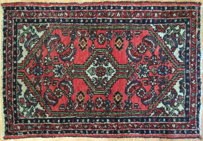 Terrific Tribal - 1940s Antique Oriental Rug - Nomadic Carpet - 2.1 X 3.1 Ft.