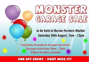 Burnie's Biggest Garage Sale - Tomorrow - Sat 20th August! Burnie Burnie Area Preview
