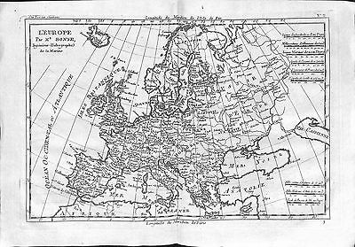 Antique maps, L'Europe par M Bonne