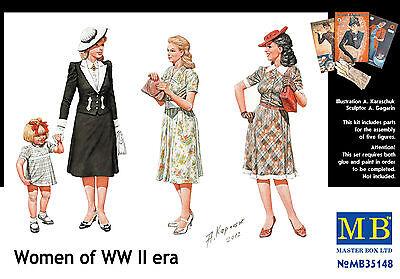 MASTER BOX™ 35148  Women of WWII era Figuren in 1:35