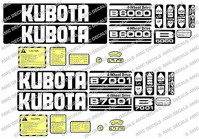 KUBOTA B6000 B6001 B6100 B7000 B7001 B7100 COMPACT TRACTOR DECAL STICKER SET for sale  Shipping to United States