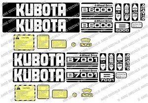 KUBOTA B6000 B6001 B6100 B7000 B7001 B7100 KOMPAKTTRAKTOR AUFKLEBER SET