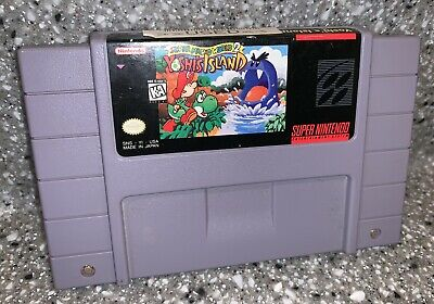 Authentic Super Nintendo SNES Super Mario World 2 Yoshi's Island Cartridge