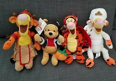 Animated Halloween Movies 2000 (4 Toy Disney Lot! Halloween Mummy Tigger Pilot Winnie The Pooh Plush 1)