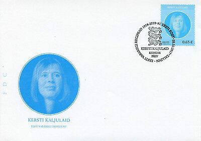 Estonia 2017 FDC Kersti Kaljulaid 1v Set Cover Presidents Politicians Stamps