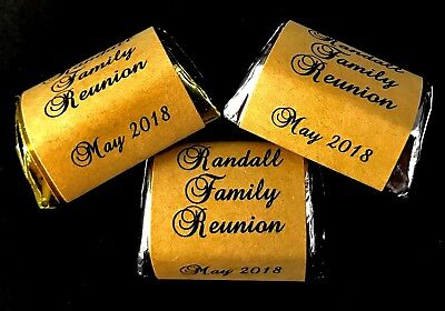 120 RUSTIC THEMED Personalized Candy Labels/Wrappers/Stickers DIY Family Reunion - Family Reunion Themes