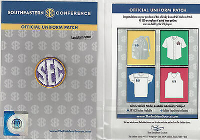 LSU SEC Conference Jersey Uniform Patch 100% Official College Football (Lsu Football Uniform)