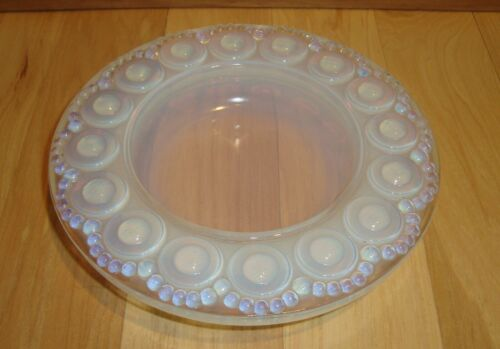 """Vintage French Made in France SEVRES Opaline Opalescent Glass Crystal 6"""" Dish"""