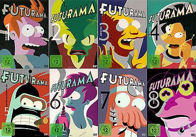 FUTURAMA serie completa temporada 1+2+3+4+5+6+7+8 23 DVD ' s Matt Groening