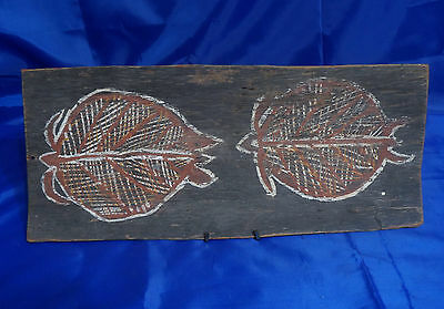 AUTHENTIC ABORIGINAL BARK PAINTING, NORTHERN TERRITORY,  AUSTRALIA