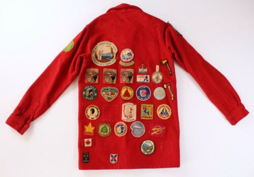 Vintage 1960s Boy Scout Jacket Coat with OA Jamboree BSA NRA Patches