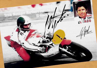 Giacomo AGOSTINI - Autogramm Bild (2) - signiert - signed + AK WM Foto ()