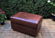 Vintage Moran Brown Leather Ottoman Golden Grove Tea Tree Gully Area Preview