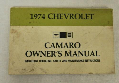 1974 CHEVROLET CAMARO OWNERS MANUAL ORIGINAL