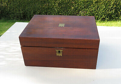 Antique Victorian Mahogany Writing Box/Slope in need of a little TLC