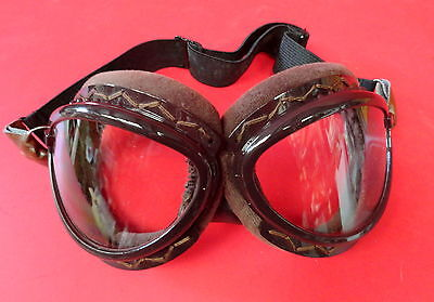 """JAPANESE IMPERIAL NAVY PILOT FLYING GOGGLES """"CAT EYE"""" STYLE"""